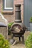 Cast Iron Chiminea Chimenea Barbecue Garden Patio Heater Oven For Wood Charcaol - 112centimeter