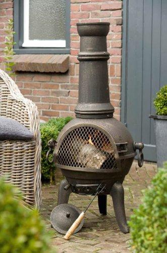Deuba Cast Iron Chiminea Chimenea Barbecue Garden Patio Heater Oven For Wood Charcaol
