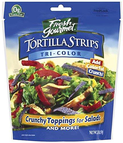 Fresh Gourmet Tortilla Strip, Tri Color, 3.5 oz - Fresh Gourmet Tortilla Strips