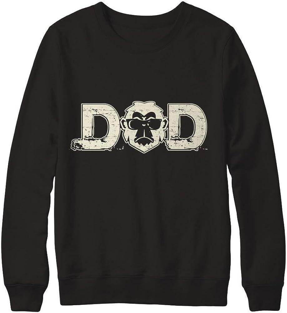 Teely Shop Mens Cool Monkey Dad Love Animal Gildan Pullover Sweatshirt