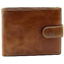 Topsum London Mens Classic Bifold Coin Pocket Premium Genuine Leather Wallet #4019
