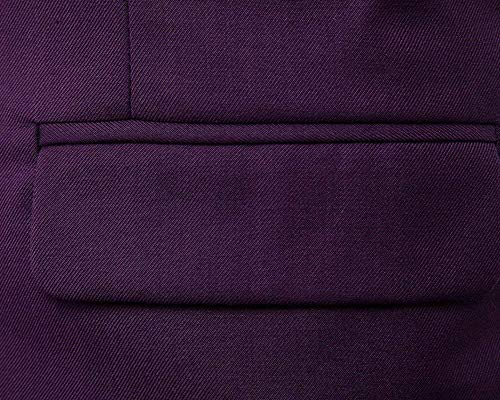 Slim Da Fit V Con Gilet Casual Scollo Giacca Vintage Violett Tinta Uomo Sportiva A Unita qXnFw5Y