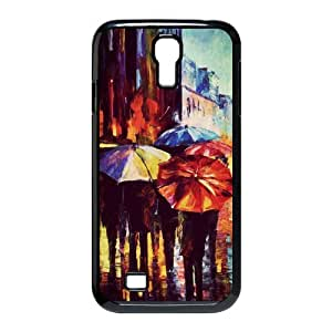 Samsung Galaxy S4 I9500 Hard Case Cover with Rainbow Umbrella Rainy Day Lovers In Love Case Perfect as Christmas gift(4)