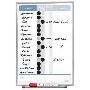 Amazon.com : Quartet Matrix In/Out Board, 11 x 16 Inches, Magnetic ...