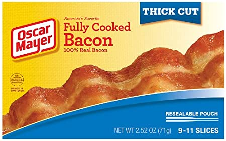 Oscar Mayer Thick Cut Fully Cooked Bacon, 2.52 Ounce