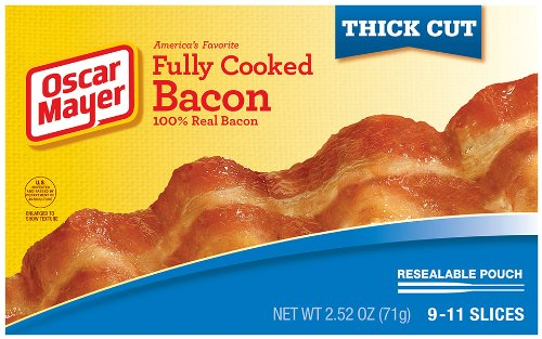 Oscar Mayer Thick Cut Fully Cooked Bacon, 2.52 Ounce (Thick Cut Bacon)