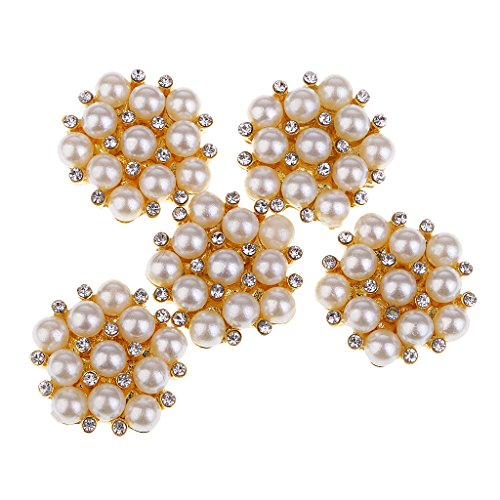 s Diamante Craft Crystal Rhinestone Embellishments Pearl Button Flatback Metal Appliques for Wedding Phone Craft Bag Shoes Hair Jewelry Craft Accessories, Scrapbooking Cardmaking ()