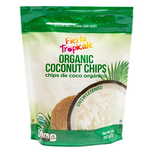 - Organic Shredded Coconut Chips (Large Coconut Flakes), Unsweetened, Gluten Free, Sugar Free, Great Toasted for Vegan, Paleo, Keto Snacks, Trail Mix, Granola - 8oz. Bag (Count of 3) by Fiesta Tropicale