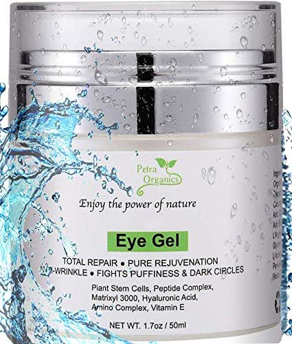 Eye Cream for Dark Circles and Puffiness - Natural Eye Gel Cream for Dark Circles with Hyaluronic Acid - Eye Cream Anti Aging for Bags & Dark Circles - 1.7 oz / 50 ml