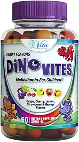 All Natural Kids Gummy Vitamins - Children Love These Tasty Daily Chewable Multivitamin Gummies with Vitamin D C E B 12 Folic Acid Iodine and 12 More Essential Nutrients & Minerals
