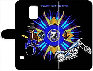 April F. Hedgehog's Shop Hot 7921737PH818664380S5 Harley-Davidson Samsung Galaxy S5 Leather Case, Hybrid Leather Rubber Hard Leather Case Cover for Samsung Galaxy S5
