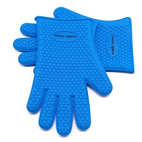 Nardo Visgo® palillo de la hornada del silicón estera no y guantes de silicona Set-Mat Hoja de medio tamaño (11-5 / 8