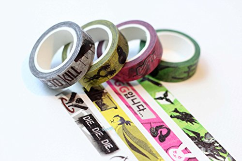 Cute-Overwatch-Dva-Hanzo-Genji-Reaper-Washi-Masking-Tape-Rolls-30ft-Decorative-Overwatch-Gaming-Craft-Tape-Custom-Pattern-Japanese-Anime-Washi-Tape-for-DIY-Crafts