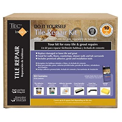 TEC Invision 5 Lb. White Premixed Tile Repair Kit With Installation Tools