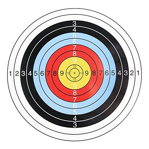 ゴシレ Gosear 20PCS 40x40cm 防水10リングブルズアイターゲット紙アーチェリーシューティングダーツコンペティションの商品画像