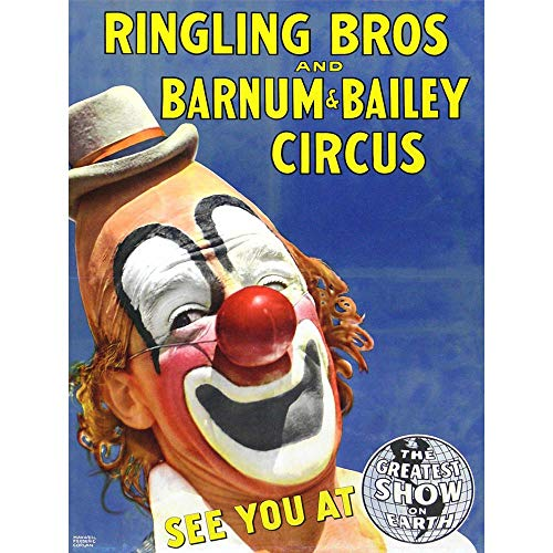 Wee Blue Coo Circus Ringling Bros Barnum Bailey Show Clown Unframed Wall Art Print Poster Home Decor Premium ()