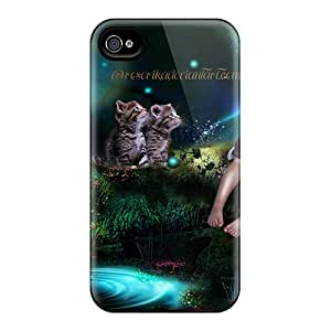 Defender Cases For Iphone 6, Girl With Cats Pattern