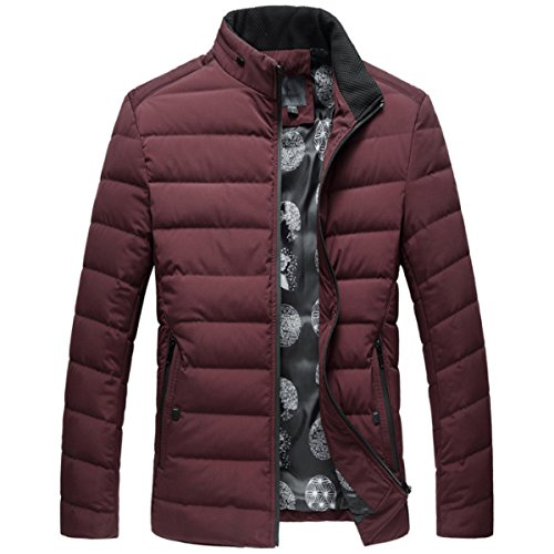 Men's Men's Men GTYW Jacket Down Red Casual Winter Tnq6H