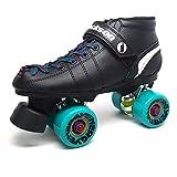 Jackson Phreakskate Outdoor Aqua Energy 62mm Quad Roller Speed Skate Size 6.5