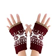 Unisex Short Fingerless Gloves Checked Design