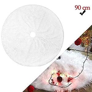 WELLXUNK Tappeto Albero di Natale,Gonna Albero di Natale,Tappetino per Albero di Natale per Albero di Natale Decorazione Capodanno casa Festa Forniture (90 cm) 7 spesavip