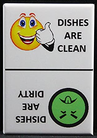 amazon com clean dirty smiley face mr yuck face dishwasher