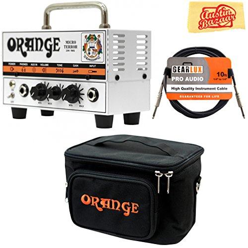 Orange Tiny Terror Combo (Orange MT20 Micro Terror 20-Watt Mini Guitar Amplifier Head Bundle with Orange Gig Bag, Instrument Cable, and Austin Bazaar Polishing Cloth)