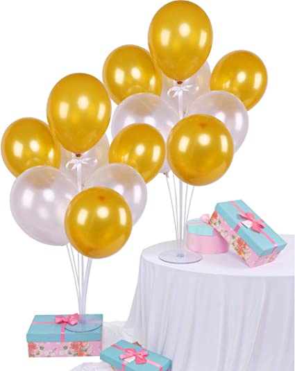 Balloons Stick Centerpieces with Base 2 Balloons Stand for Table Balloons Decor
