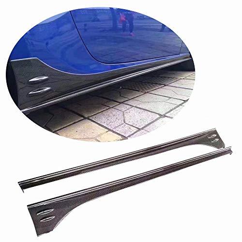 MCARCAR KIT Side Skirts fits Subaru BRZ 2013-2018 Toyota FT86 GT86 Scion FR-S 2012-2018 Add-on Carbon Fiber CF Under Door Rocker Panels Valance Extension ()