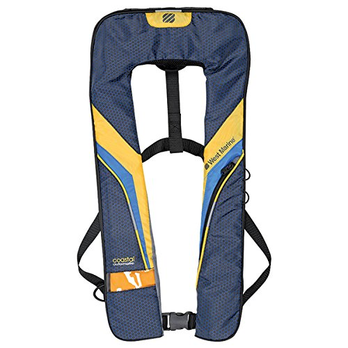 West Marine Coastal Automatic Inflatable Life Jacket Blue/Yellow by West Marine