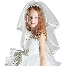 Girls First Communion Veil Crown Multi Layer Veil