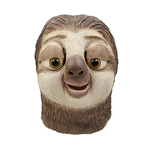 Novelty Halloween Costume Party Props Madness City Sloth Flash Headgear Latex Mask