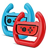 TNP Joy-Con Wheel Controller for Nintendo Switch (Set of 2) – Racing Steering Wheel Controller Accessory Grip Handle Kit Attachment (Red and Blue) – Nintendo Switch For Sale