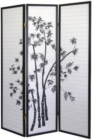 ORE International 3 Panel Room Divider – Bamboo