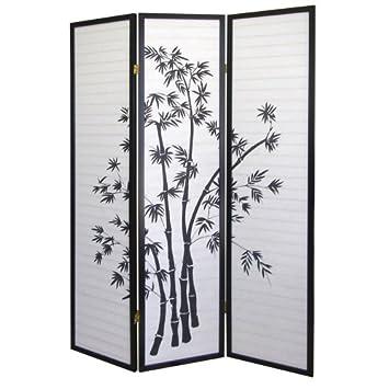 Ore International 3 Panel Room Divider Bamboo