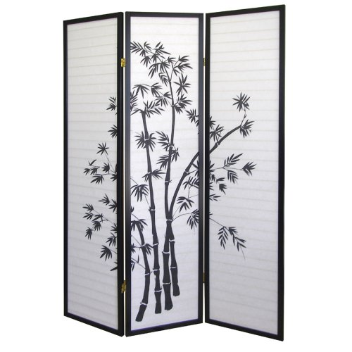 ORE International 3 Panel Room Divider - Bamboo