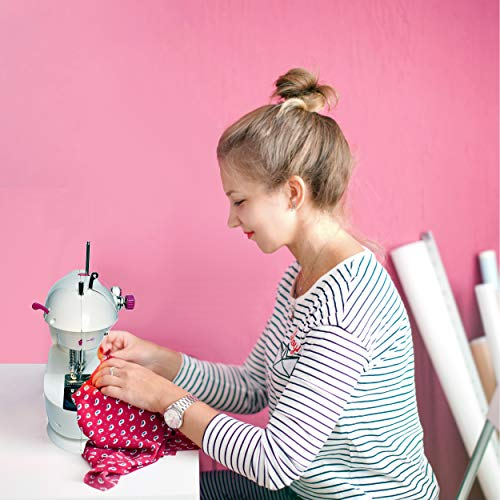 Sew Mighty, The Original Portable Sewing Machines – Perfect for Kids, Travel, Quick Repairs & Small Projects – Dual-Speed, Battery & AC Power, Foot Pedal Controller & More (Mighty Mini)