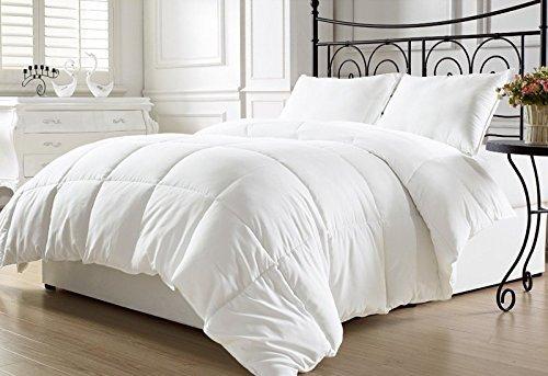 DG'S BEDDING STORE White Goose Down Alternative Comforter,Queen
