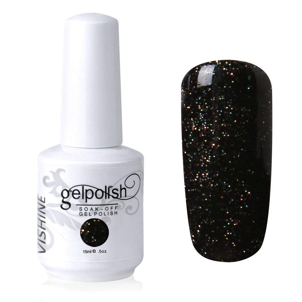 Vishine Gelpolish Soak-off Nail Art UV LED Nail Polish Salon Manicure Pearl Darkmagenta(485)