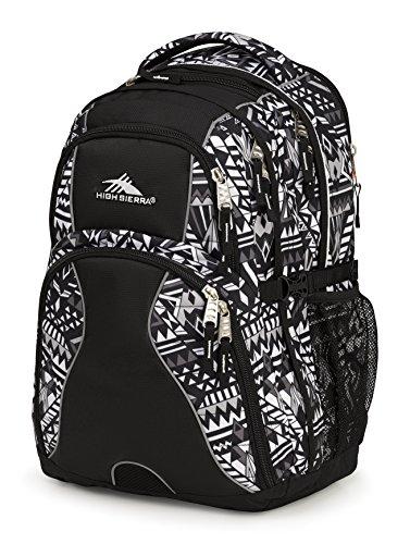 High Sierra Swerve Laptop Backpack, Geo Weave/Black