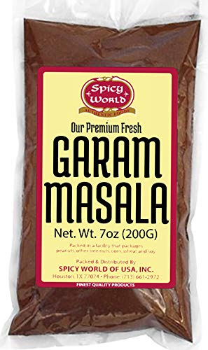 Spicy World Garam Masala 7-Ounce (15 Premium Spice Blend) - Salt-Free