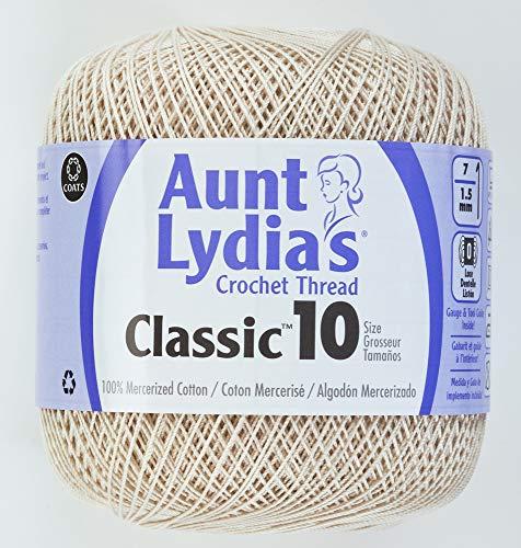 Coats Crochet 154-226 Aunt Lydia's Crochet, Cotton Classic Size 10, ()