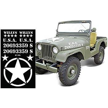 Willys Jeep Decal Bumper Sticker