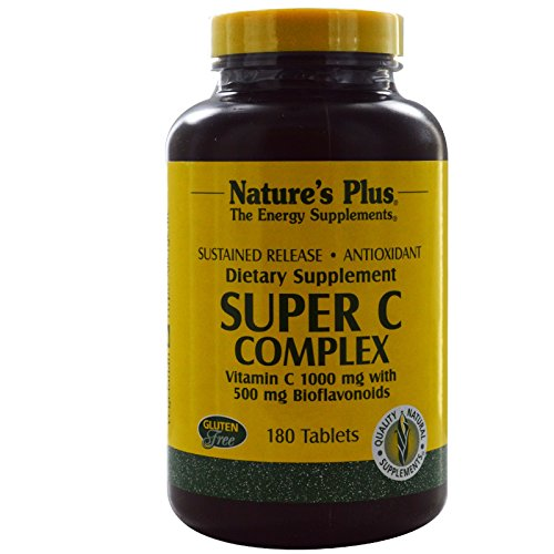 Nature's Plus, Super C Complex, Vitamin C 1000 mg with 500 mg Bioflavonoids, 180 Tablets - 3PC by Nature's Plus