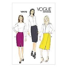 Vogue Ladies Sewing Pattern 9172 Side Wrap Skirts