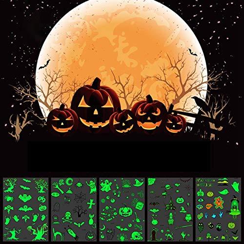 Sweetdreams HOT! Halloween Luminous Tattoo Ghost Taty For Kids Fake Tattoo Witch Glowing in Dark Waterproof Temporary Tattoo Stickers (21 x 15 CM, #3)