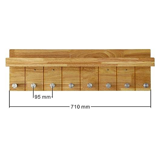 Amazon.com: PLLP Perchas de madera para el hogar, perchas de ...