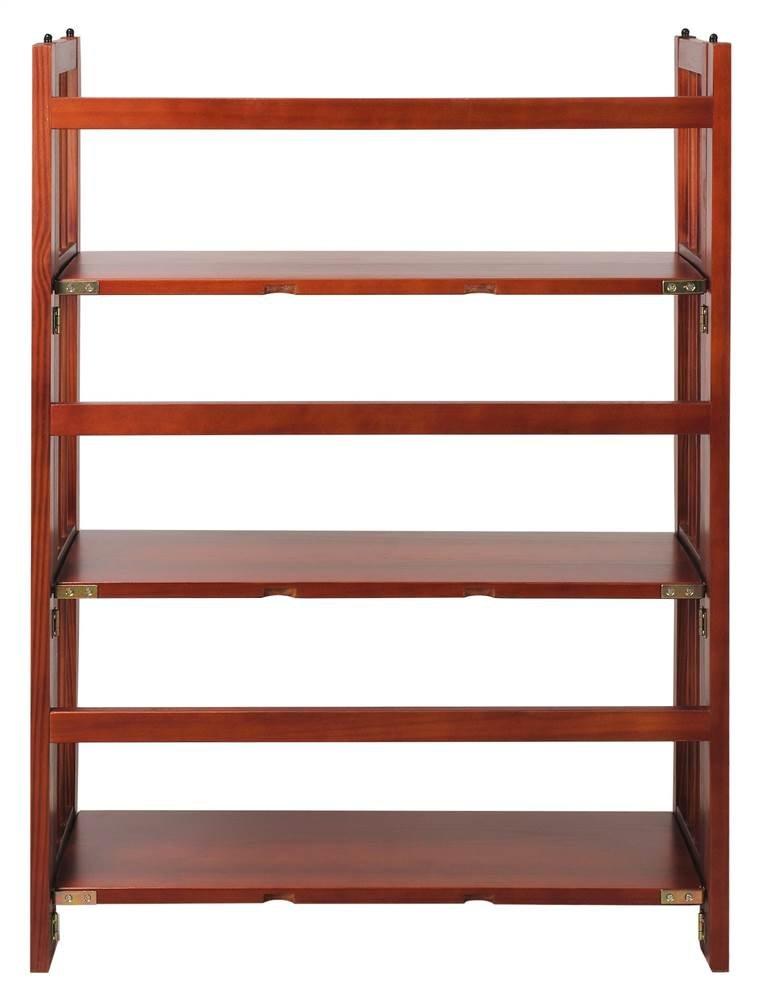 Casual Home 3-Tier Folding Bookcase in Mahogany Finish
