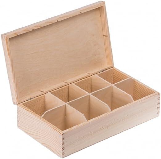 Amazinggirl Caja de Madera con Tapa Decorativa - Cajas almacenaje ...