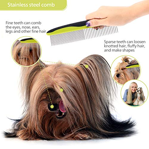 Pecute Grooming Dematting Comb Tool Kit Double Sided